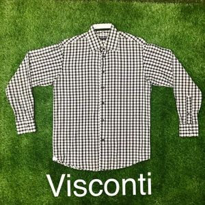 Luchiano Visconti Button Down Long-Sleeve Shirt M